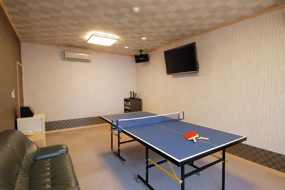 卓球もカラオケも出来る露天風呂付き客室プレイルーム