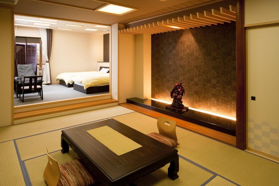 温泉露天風呂付ベッド付き和洋室