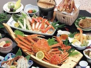 焼きガニ蟹刺しズワイガニ茹で蟹等豊富なカニ料理