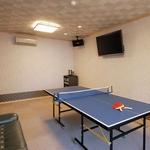 卓球もカラオケもできる露天風呂付き客室一例